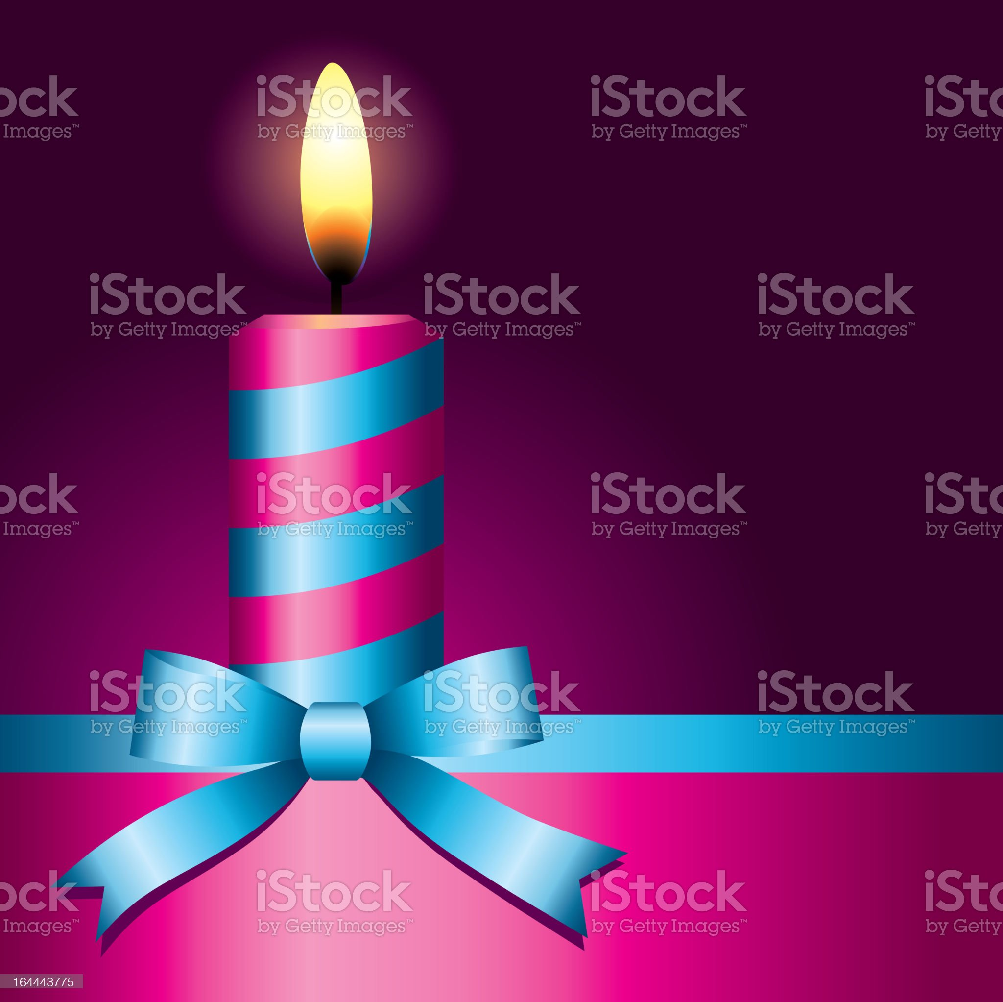 pink candle royalty-free stock vector art