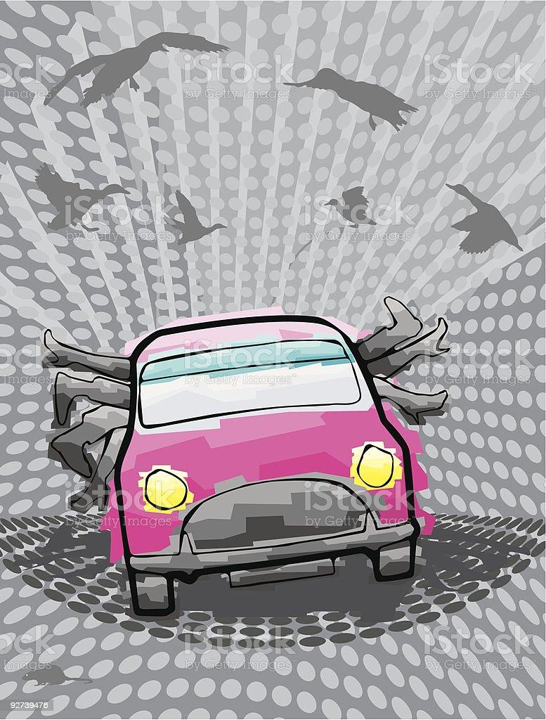Pink Car royalty-free stock vector art