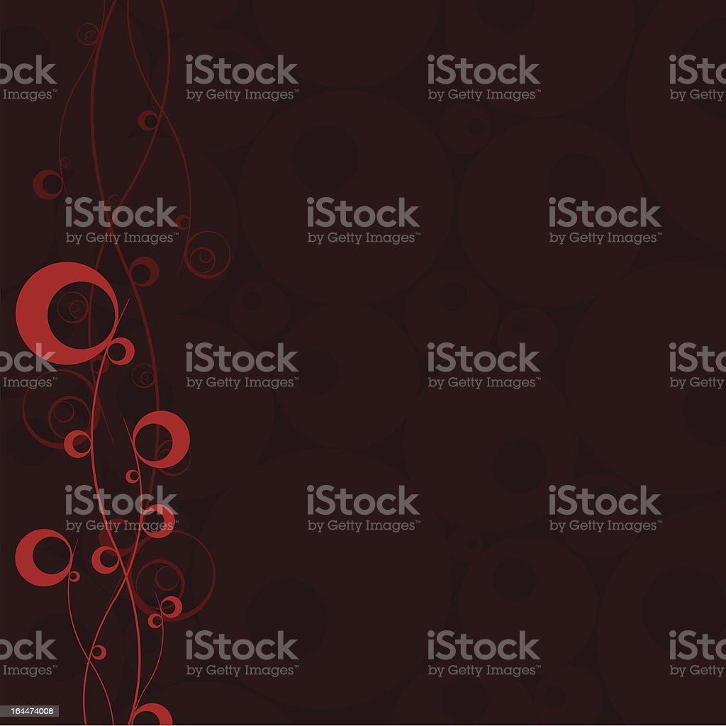 pink circle abstract with dark brown background royalty-free stock vector art