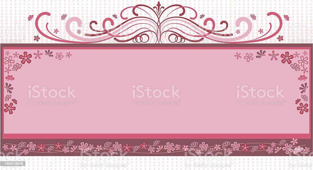 pink colour retro frame royalty-free stock vector art