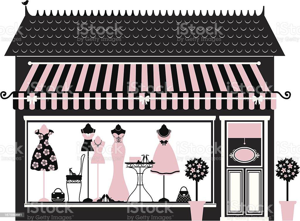 Pink Fashion Boutique vector art illustration