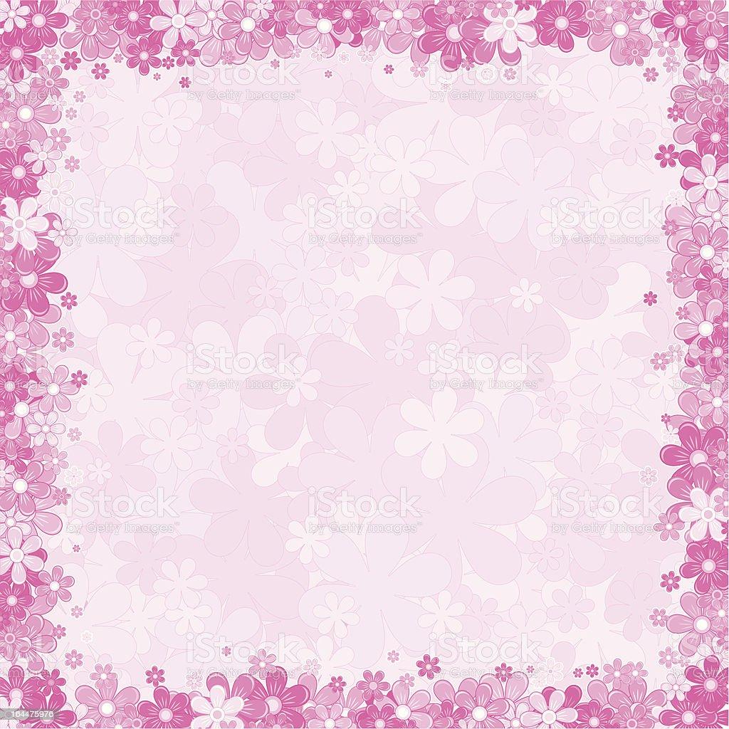 Pink Floral Background vector art illustration