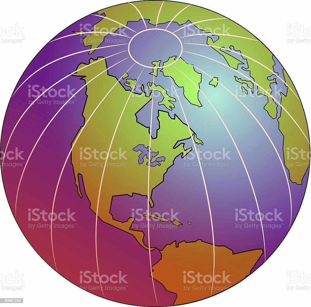 Pink Globe royalty-free stock vector art