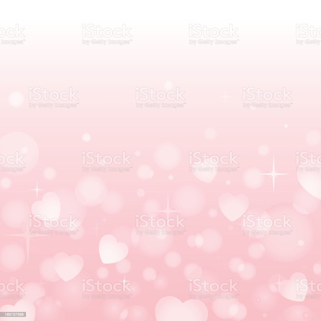 Pink heart background vector art illustration