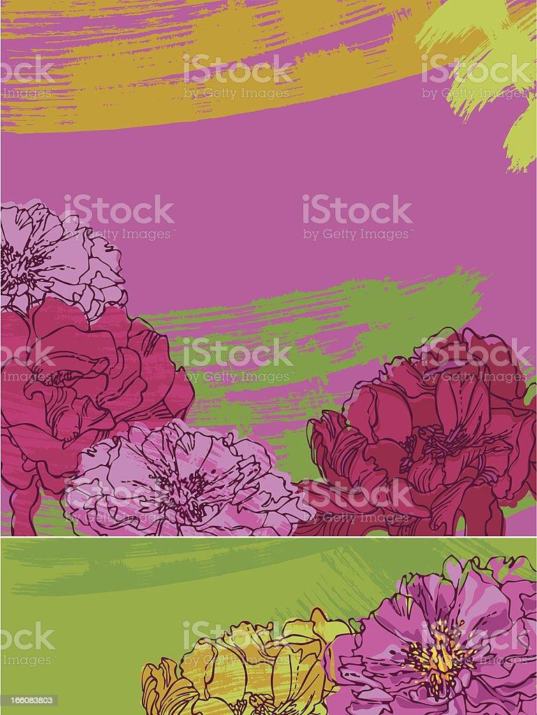 Pink Peonies royalty-free stock vector art