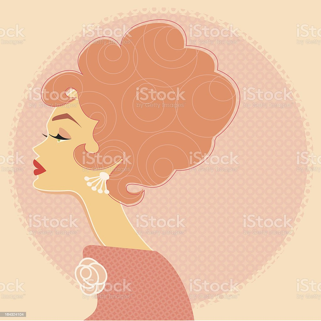 Pink Profile royalty-free stock vector art