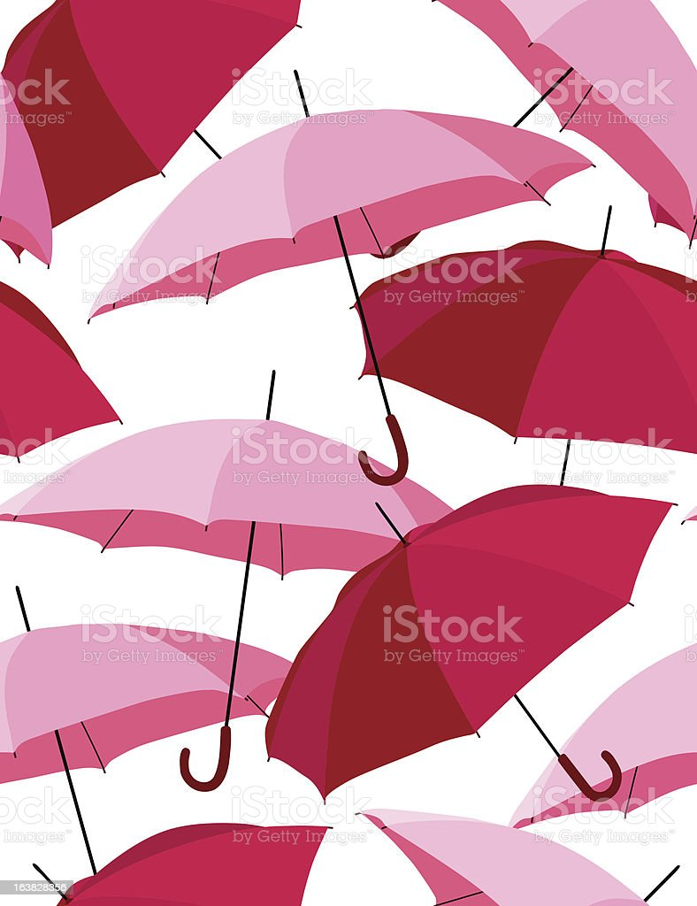 Pink umbrellas - seamless pattern royalty-free stock vector art