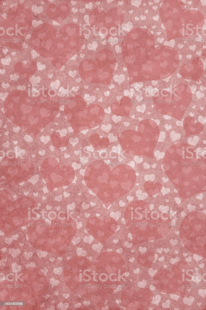Pink Valentine's day background with lots of small hearts vector art illustration