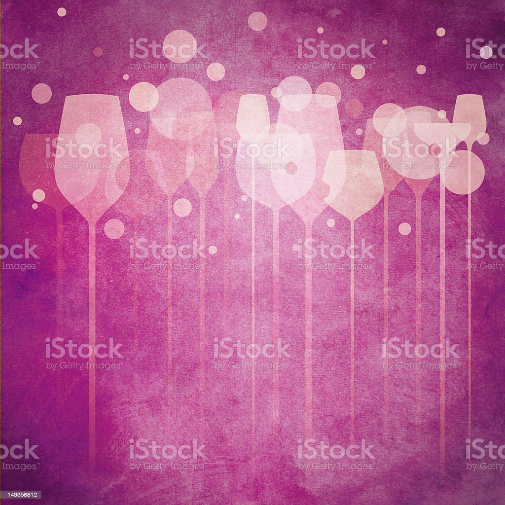Pinky Party Glasses vector art illustration