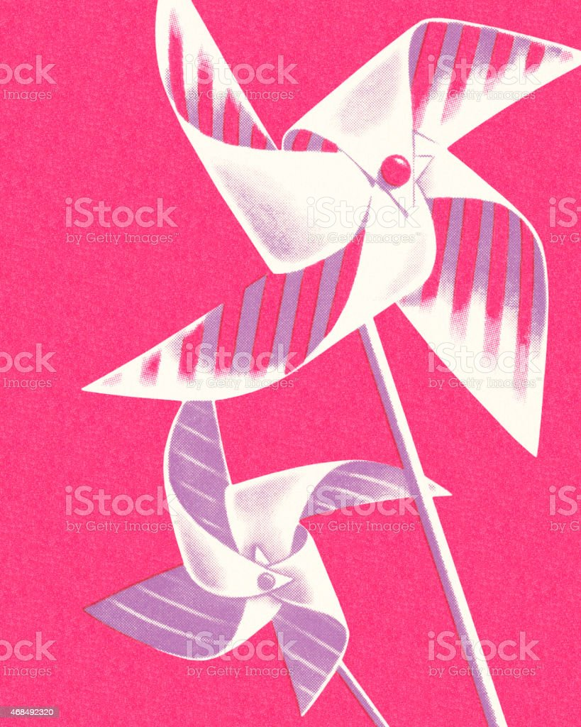 Pinwheels vector art illustration