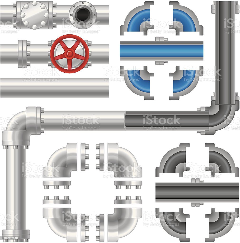 Pipes vector art illustration