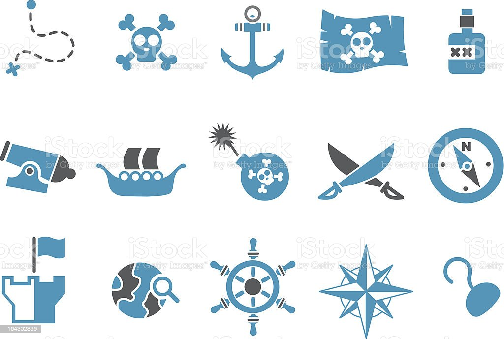 Pirate Icon Set royalty-free stock vector art