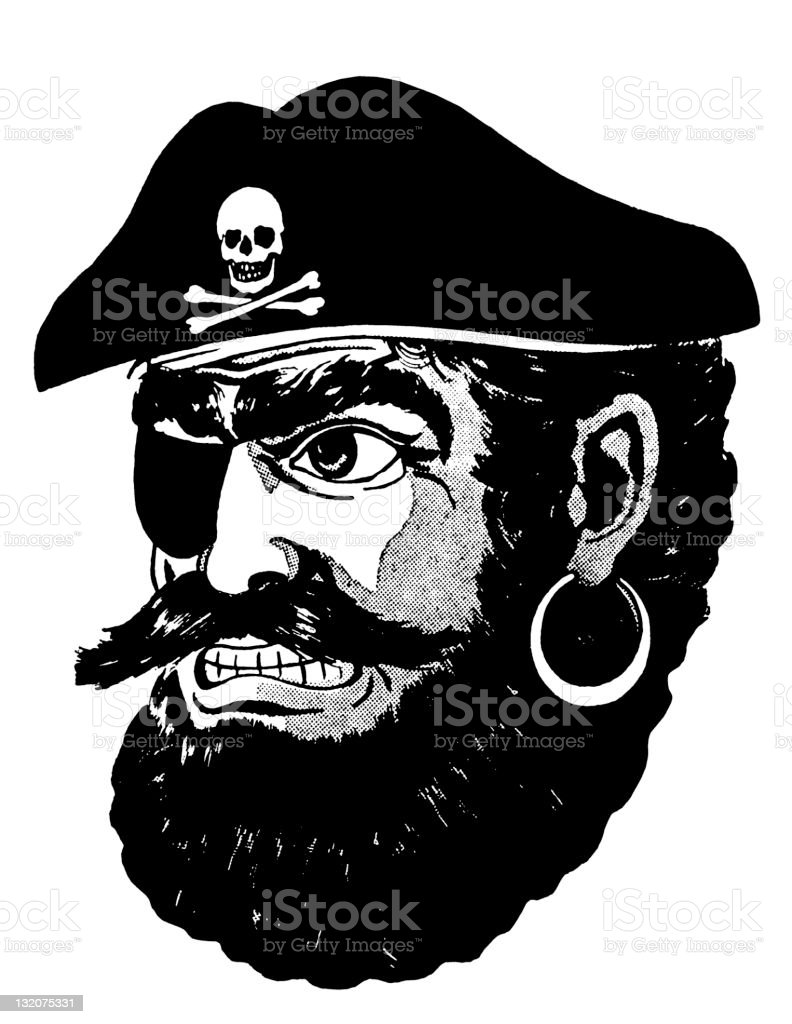 Pirate With Beard royalty-free stock vector art