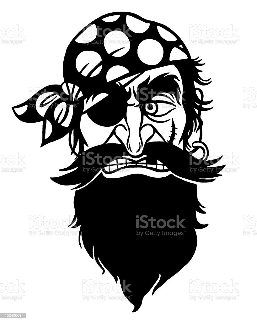 Pirate With Eye Patch royalty-free stock vector art