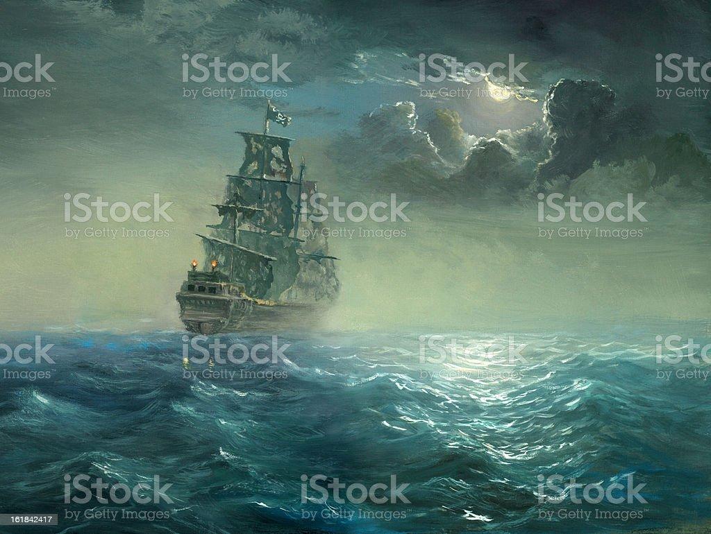 pirates vector art illustration