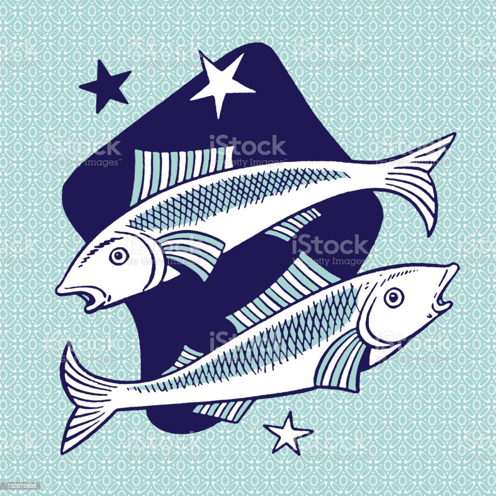 Pisces Symbol vector art illustration