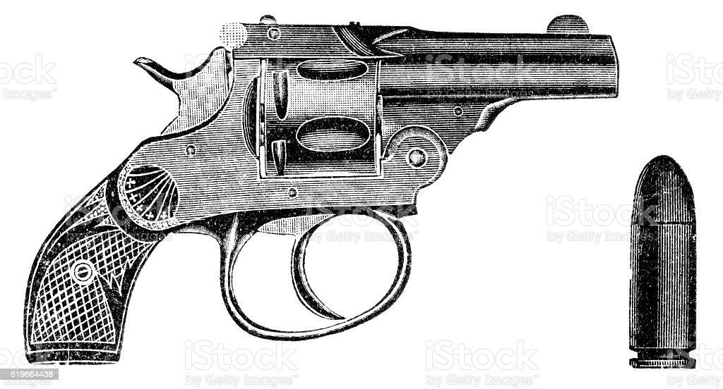 Pistol vector art illustration
