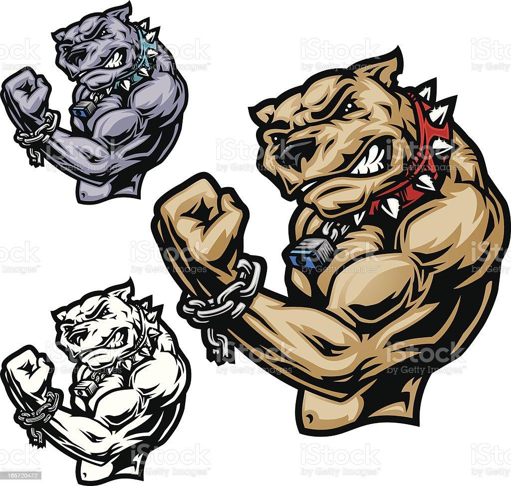 Pit Bull Power royalty-free stock vector art