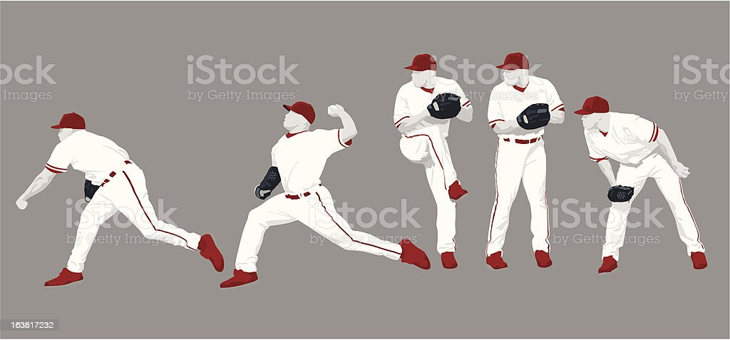 Pitch Sequence vector art illustration