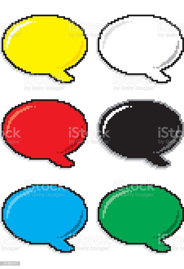 pixel comic balloons royalty-free stock vector art