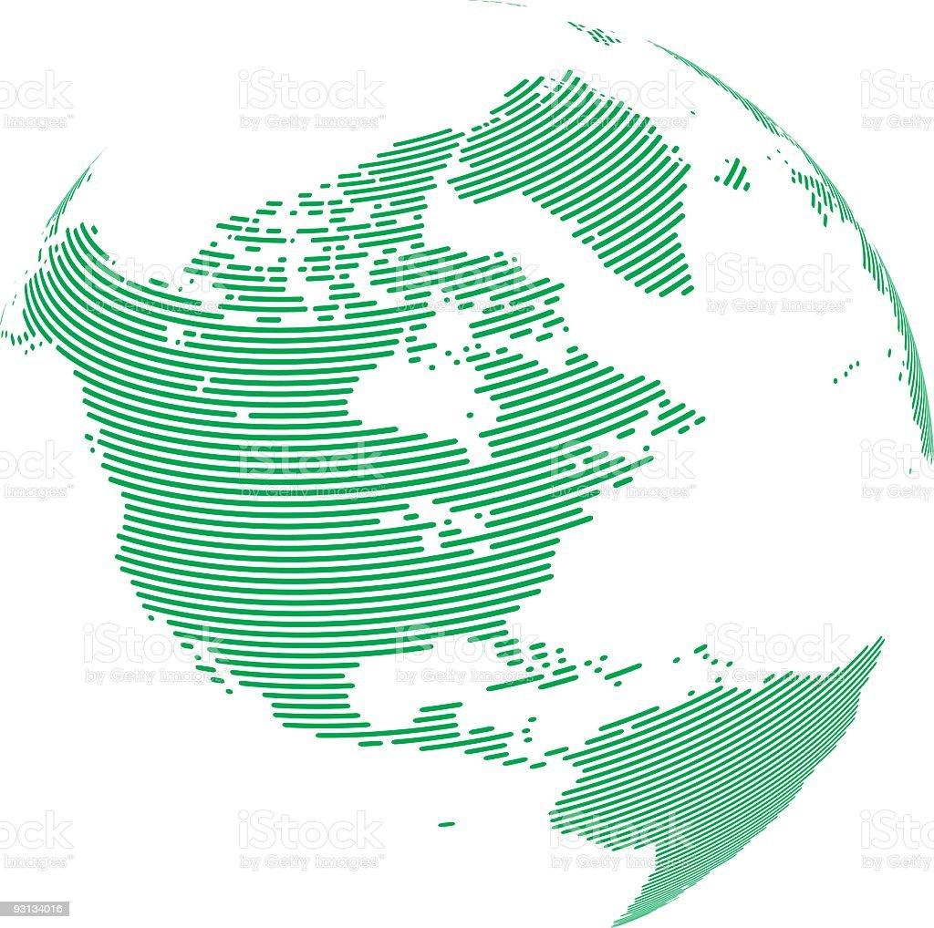 Pixel Globe – U.S.A. royalty-free stock vector art