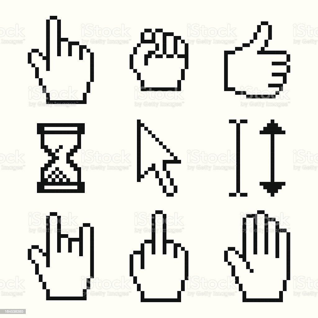 pixelated cursors royalty-free stock vector art
