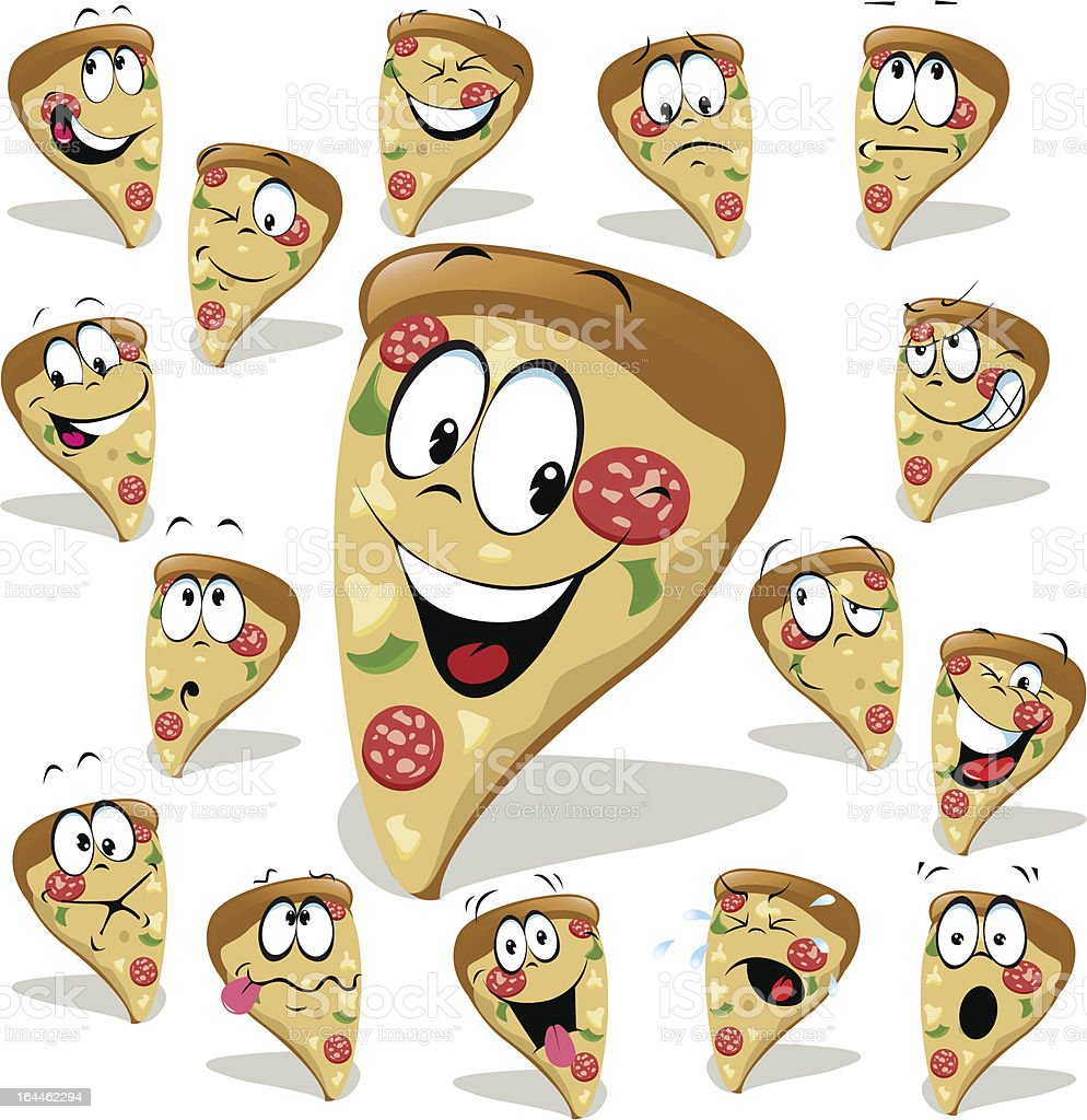 pizza cartoon vector art illustration