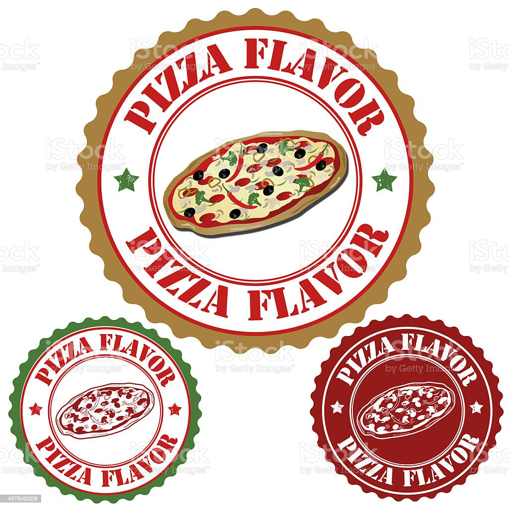 Pizza flavor stamps royalty-free stock vector art