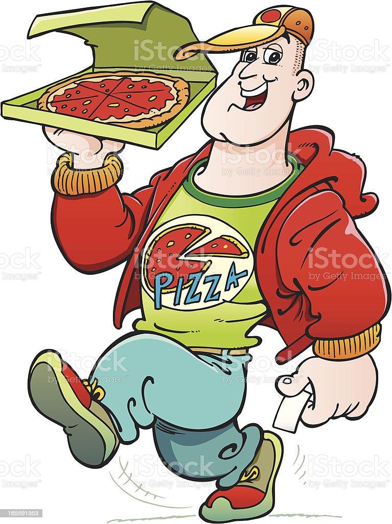 Pizza man royalty-free stock vector art