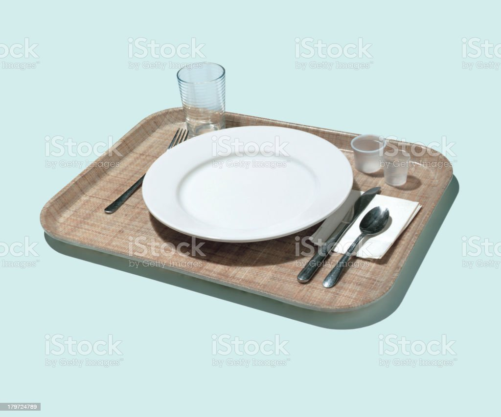 Place Setting on Tray vector art illustration