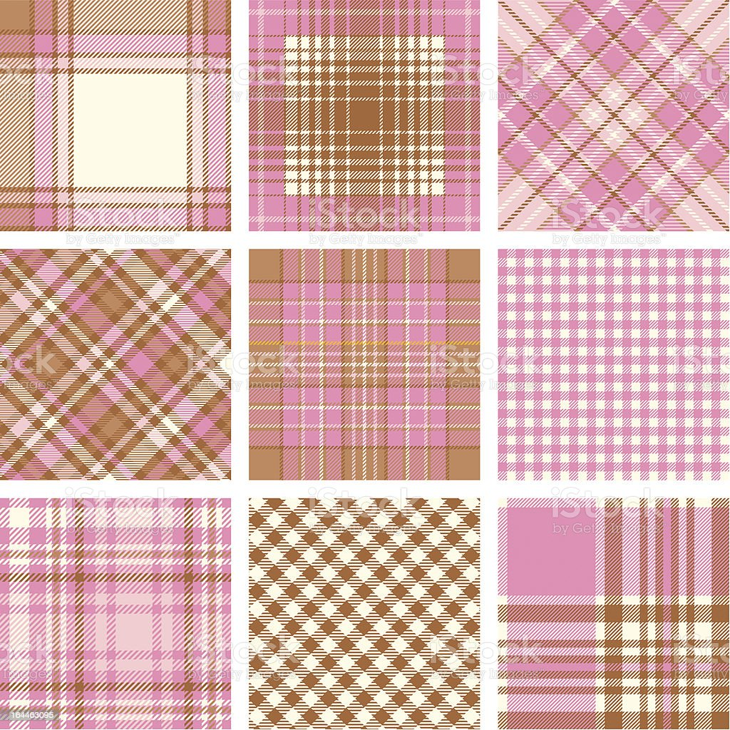 Plaid patterns royalty-free stock vector art