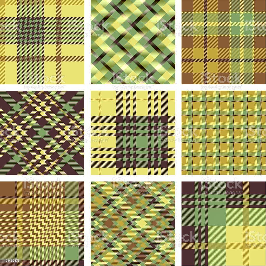 Plaid patterns royalty-free stock vector art