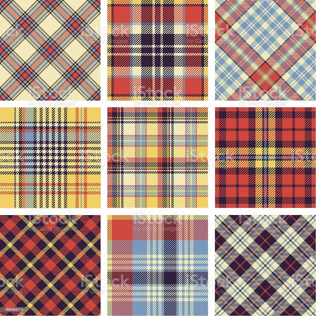 Plaid patterns vector art illustration