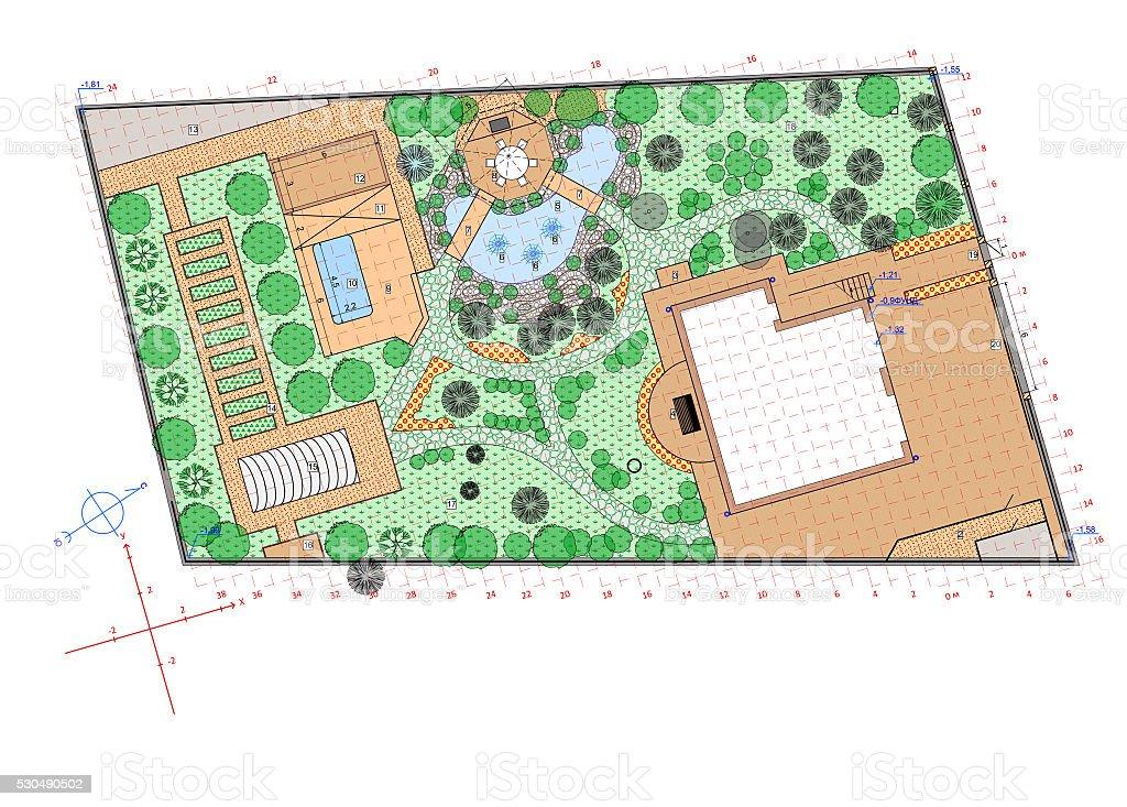 Plan Of Garden Land Royalty Free Stock Vector Art