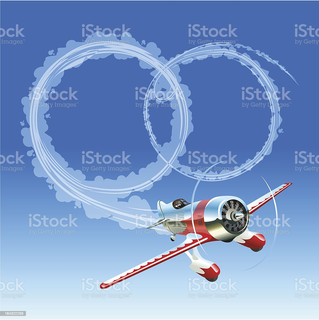 Plane sending wedding message royalty-free stock vector art