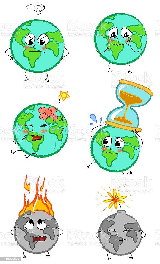 Planet earth clip arts royalty-free stock vector art