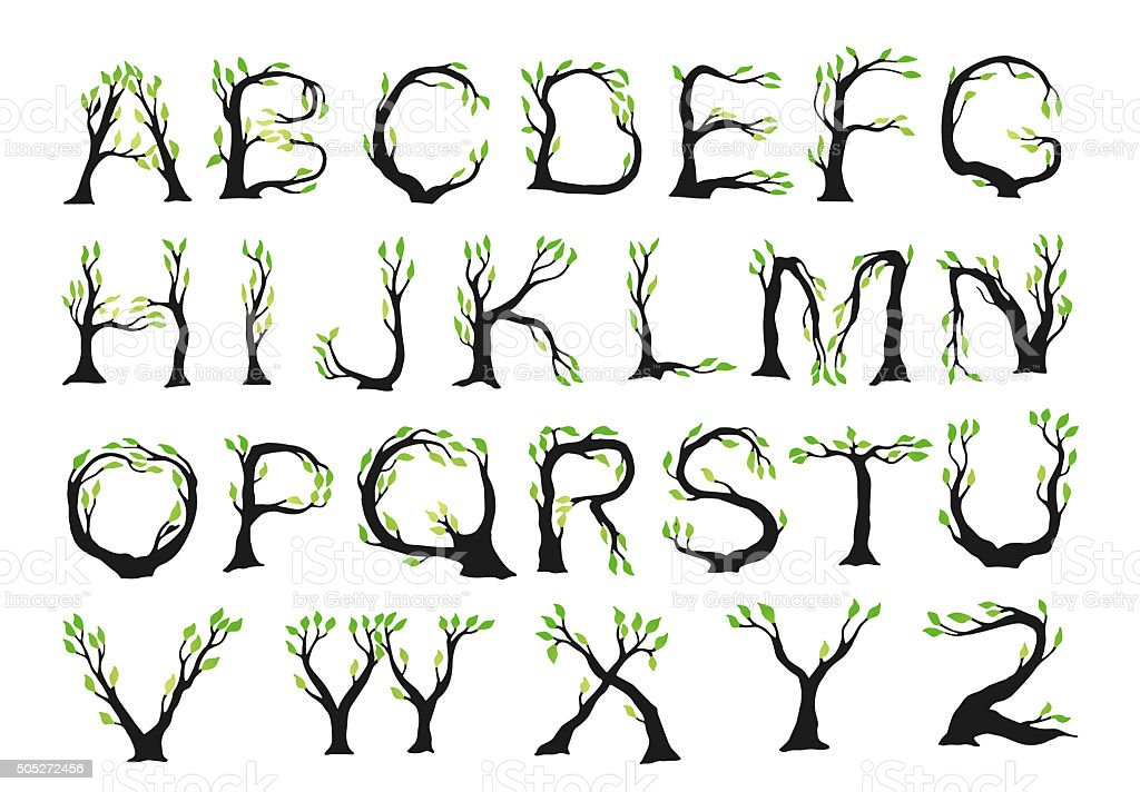 Pictures Of Alphabet Letters In Nature