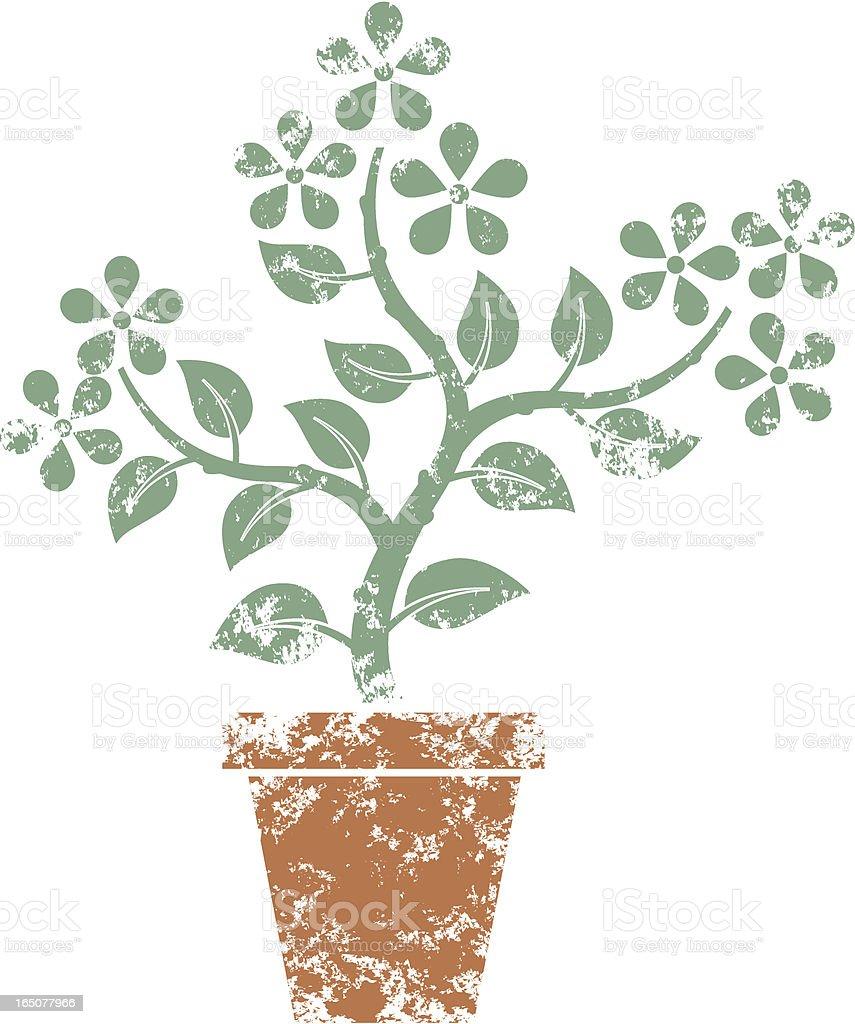 Plant stencil vector art illustration