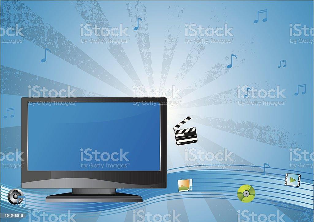 Plasma lcd tv royalty-free stock vector art