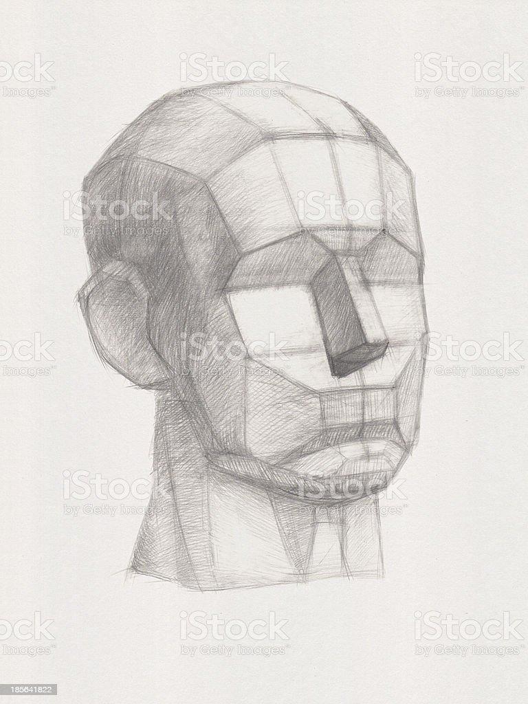 Plaster Head vector art illustration