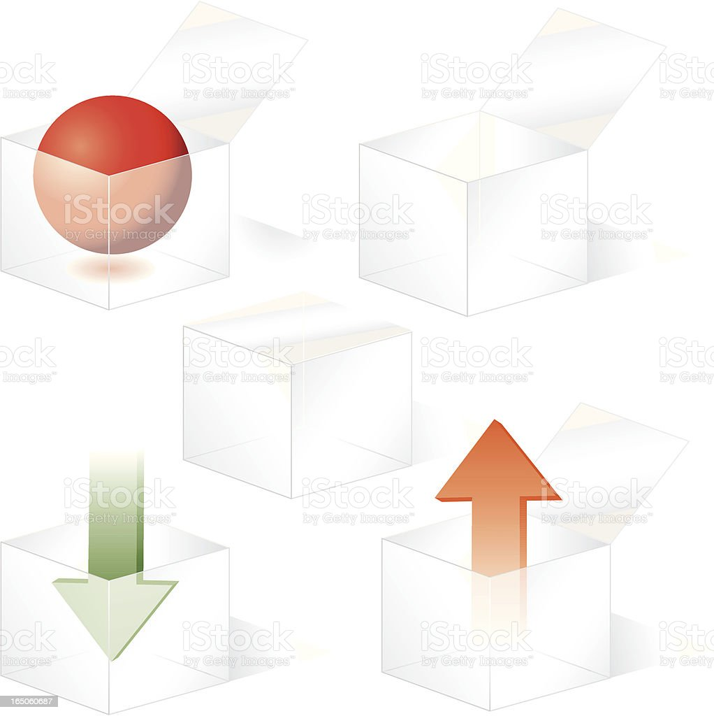 Plastic Box Icons royalty-free stock vector art