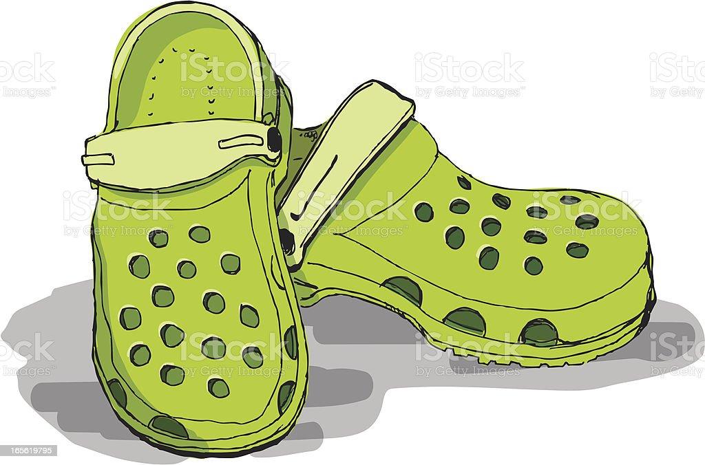 Plastic Shoes vector art illustration
