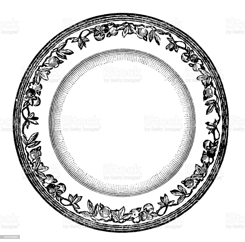 Plate | Antique Design Illustrations vector art illustration