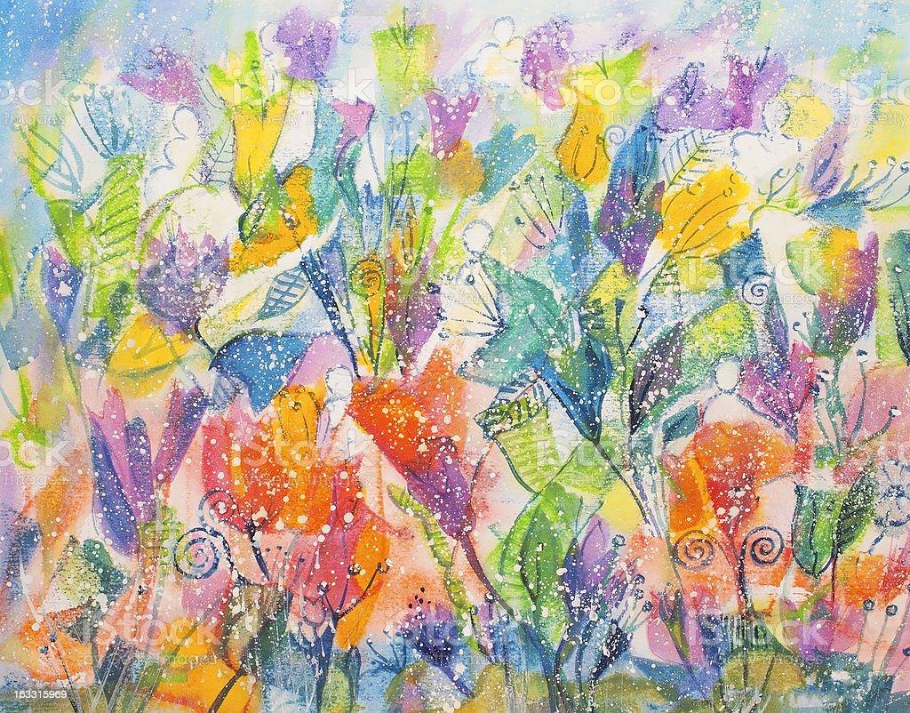Juguetón flores illustracion libre de derechos libre de derechos