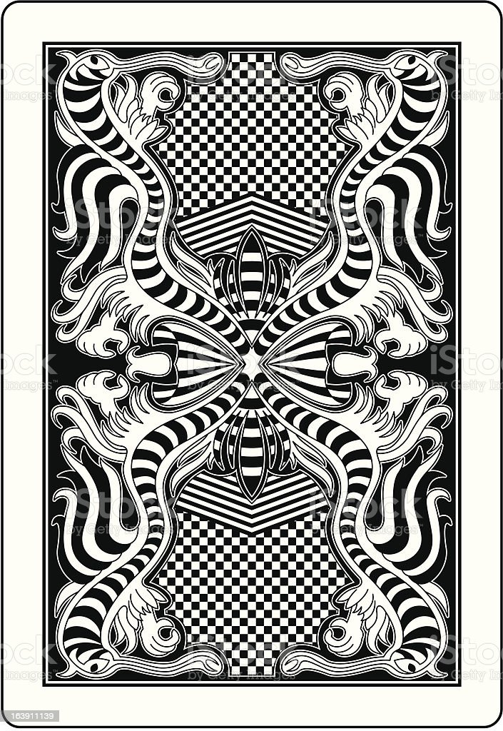 playing card back side 62x90 mm royalty-free stock vector art