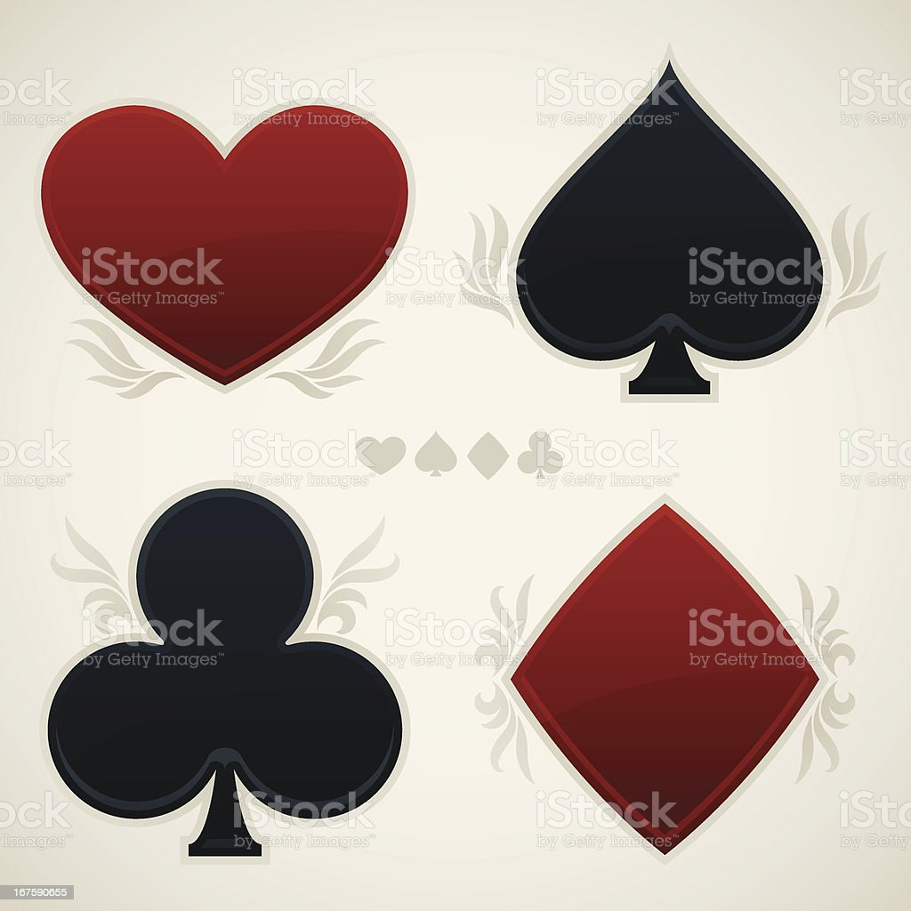 Playing Card Suit Symbols royalty-free stock vector art