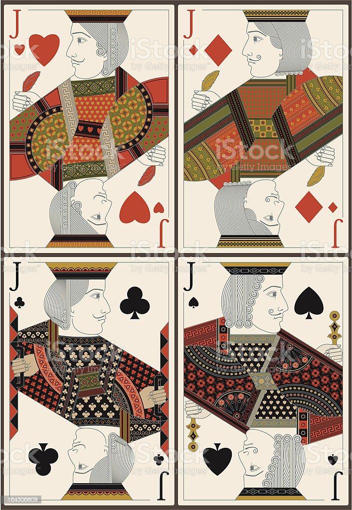 playing cards- jacks- vector vector art illustration