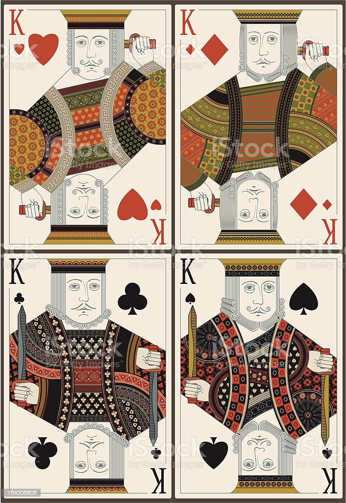 playing cards- kings- vector vector art illustration