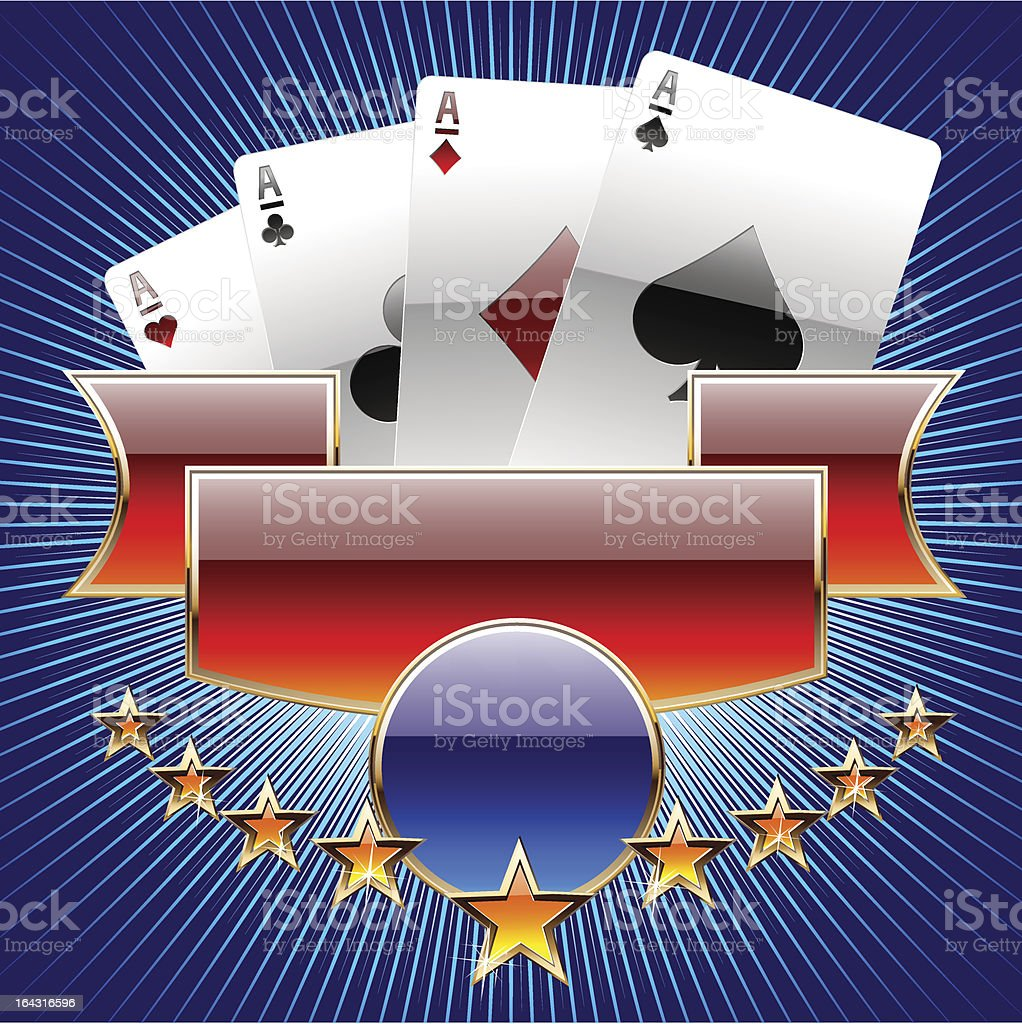 Playing cards or casino symbol vector art illustration
