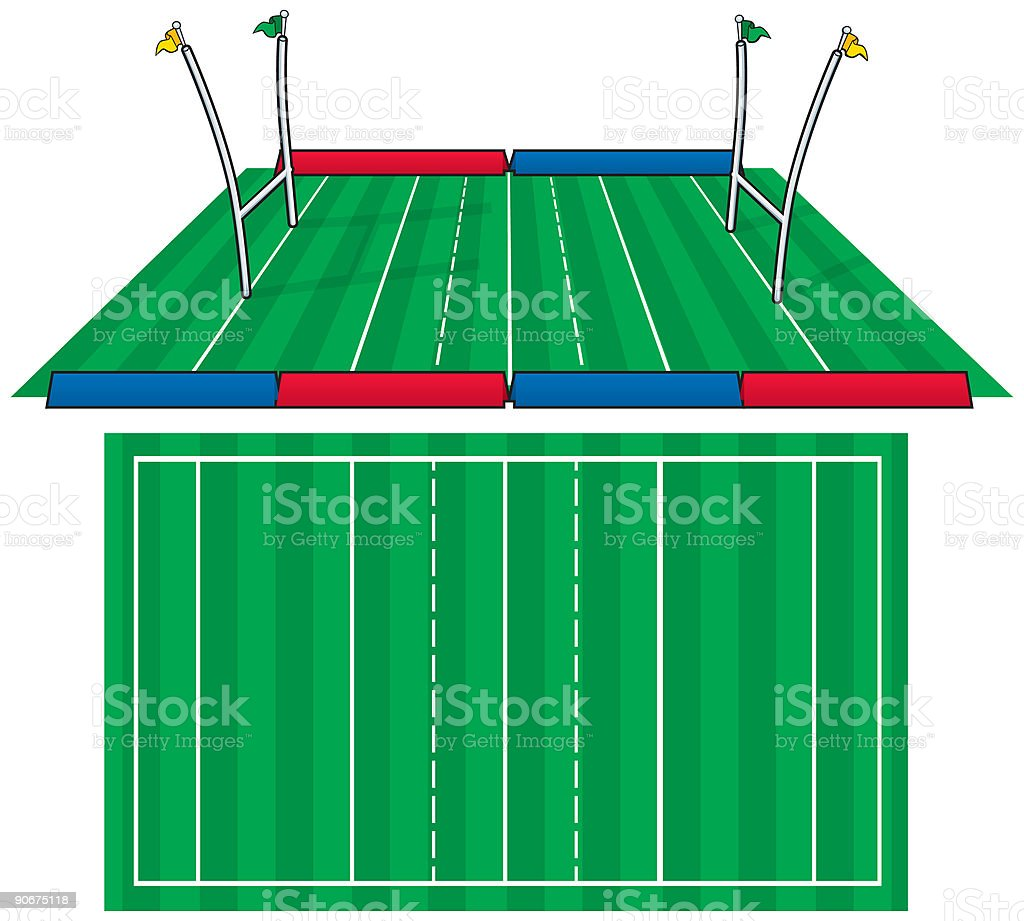 Playing Field (vector) royalty-free stock vector art